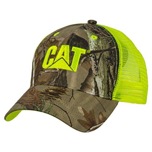Cat Camo Front Cap w/Neon Green Mesh -