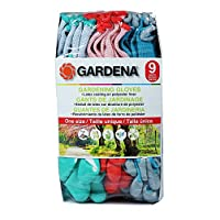 Gardena Gardening Gloves - Latex / Polyester - 9 Pairs