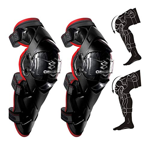 - Protective Motorcycle Knee Pads Kneepad Protector Protection Off Road Motocross Brace Elbow Guards Racing Protect K09-Red Free Size