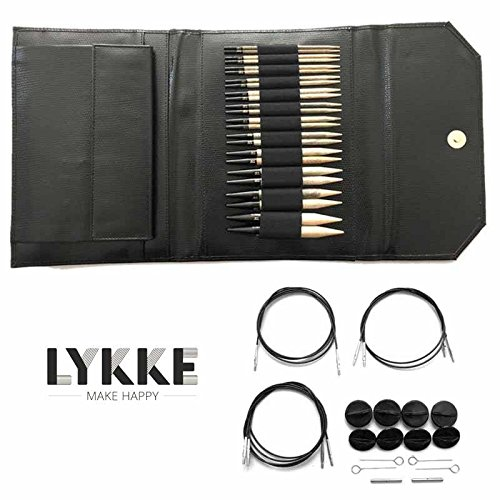 Lykke Driftwood Interchangeable Gift Set in Black Leather Pouch by Lykke