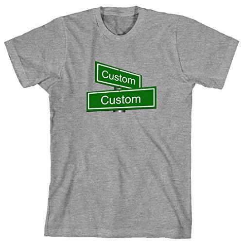 Gray Street Sign (Custom Cross Street Sign Men's Shirt - XXXXX-Large - Sports)