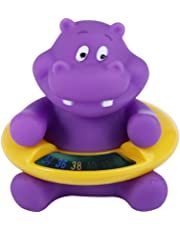 Baby Infant Bath Tub Water Temperature Tester Toy Animal Shape Thermometer Purple Hippo Shape Purple 1pc