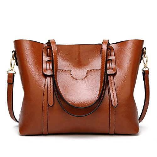 Women Handbags Soft PU Leather Clutch Purse Top Handle Satchel Shoulder Bags for Lady by Jeniulet