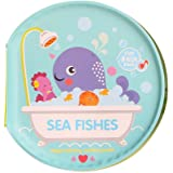 Questionno Waterproof EVA Soft Cloth Books for Babies Baby Toy Kids Learning with BB Device Marine Animal