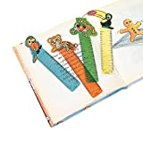 Plastic Rainforest Friends Ruler Bookmarks (With Sticky Notes)