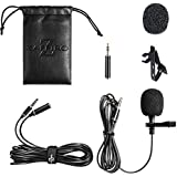 Lavalier Lapel Microphone,Omnidirectional Iphone Microphone with Easy Clip on System Perfect for Recording Youtube Vlog Interview /Video Conference/Podcast | Best Lapel Mic for iPhone iPad Android