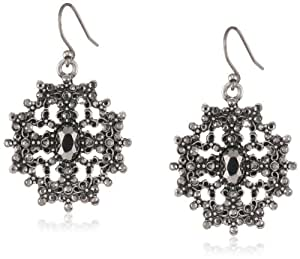 "Lucky Brand ""Icicle"" Snowflake Drop Earrings"