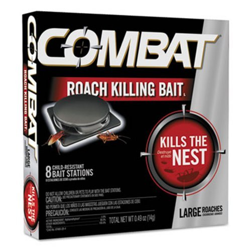 Combat 41913CT Source Kill Large Roach Killing System Child-Resistant Disc 8/PK 12 PK/CT