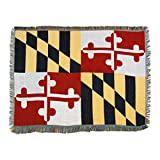 "The Northwest Company Maryland State Flag Woven Tapestry Throw Blanket, 48"" x 60"", Multi Color"