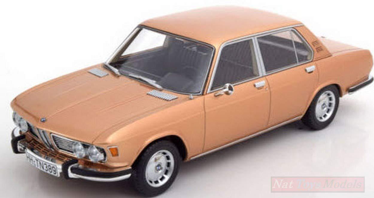NEW BOS Model BOS349 BMW 2500 (E3) Gold 1:18 MODELLINO Die Cast Model