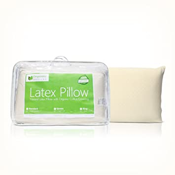 All Natural Latex Pillow with Organic Cotton Outer Covering (Standard- Soft)
