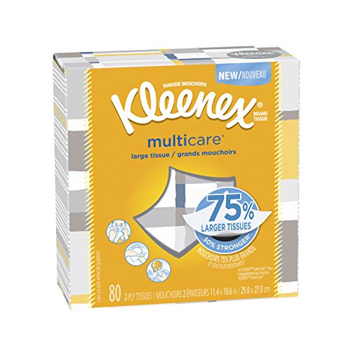 Price comparison product image Kleenex Multicare 80 Facial Tissues, 6 Count