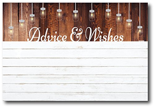 50 Rustic White Shiplap Gender Neutral Advice And Wishes Cards, Any Occasion, Two Grooms or Two Brides Advice Cards, Wedding Advice Cards, Bridal Shower, Advice For The Bride, Baby Shower Advice Cards by L&P Designs