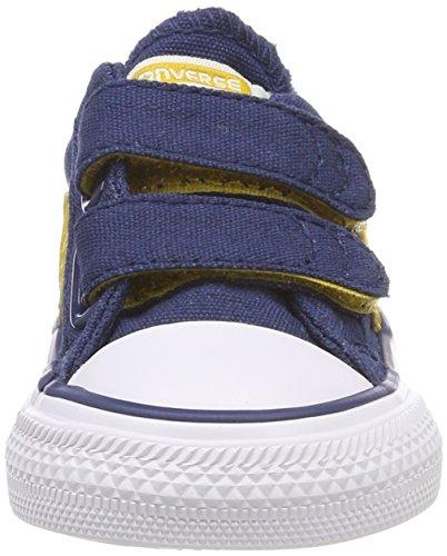Converse Star Player Ev 2v OX, Zapatillas Unisex Niños Blau (Navy/mineral yellow/White)