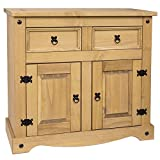 Home Discount 2-Door 2-Drawer Sideboard Solid Waxed Pine Mexican Furniture