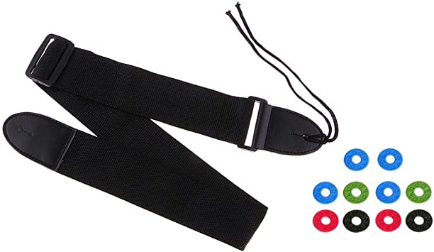 10pcs Guitar Strap Block Rubber Safety Strap Lock Washer for Guitars..