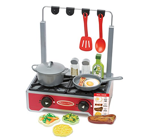 Melissa & Doug 19-Piece Deluxe Wooden Cooktop Set With Woode