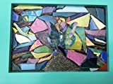 Butterfly stained glass window art sun catcher