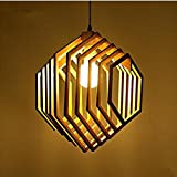 WY Single Solid Wood Chandelier Simple Modern Wooden Creative Restaurant Pendant Light Living Room Bee Pupa Lamp, light