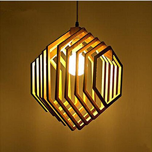 WY Single Solid Wood Chandelier Simple Modern Wooden Creative Restaurant Pendant Light Living Room Bee Pupa Lamp, light by WY