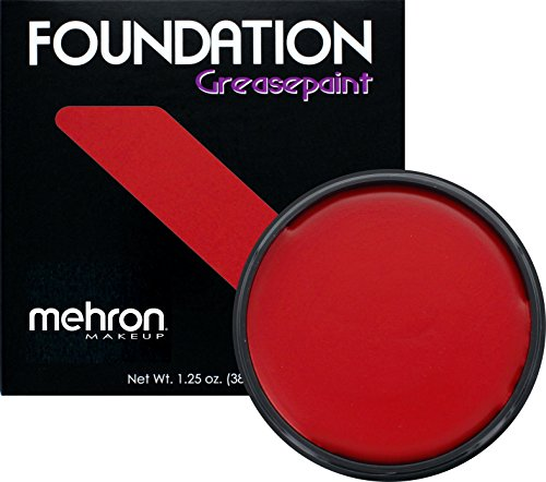 Mehron Makeup Foundation Greasepaint (1.25 oz) (REALLY BRIGHT RED)