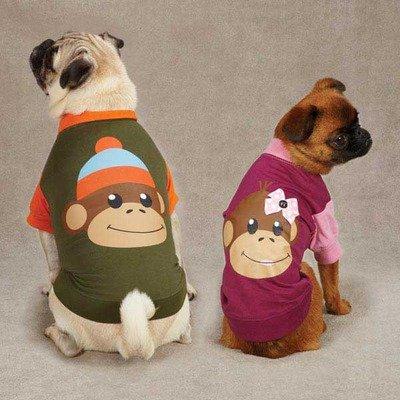 Monkey Business Dog Raglan Tee Color: Tiff, Size: Medium, My Pet Supplies