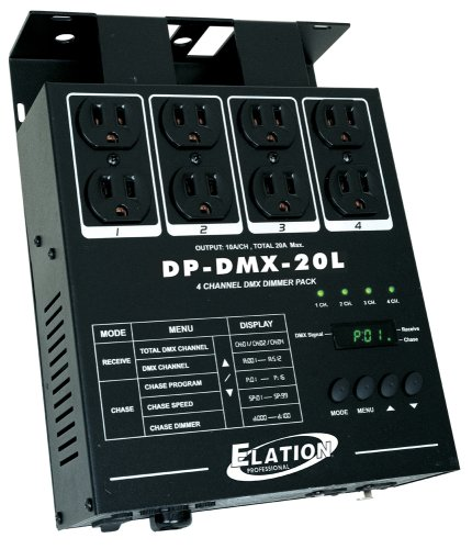 ADJ DP DMX20L 4 Chanel Dimmer Pack by Elation Control