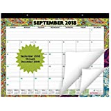 "Large Desk Calendar 2019 (15 Months) | Monthly Planner with Beautiful Paisley Design | Desktop Organizer Pad for Home, Office, and Wall Décor | 22 x17"" Inches"