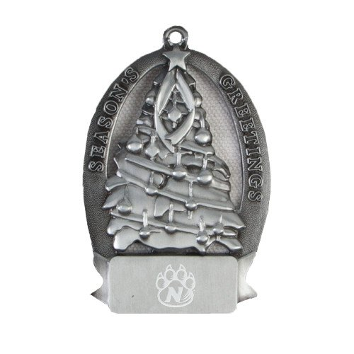 CollegeFanGear Northwest Missouri State Pewter Tree Ornament 'Official Logo Engraved' by CollegeFanGear