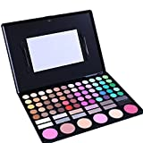 Maquita Professional 78 Colors Eyeshadow Combination Cosmetic Pallet Eye Shadow Palette Makeup Kit Set with 2 Free Brushes (#2)