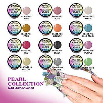 12 Colors Mia Secret Acrylic Pearl Collection Professional Acrylic Nail System Powder 0.25oz/ea.