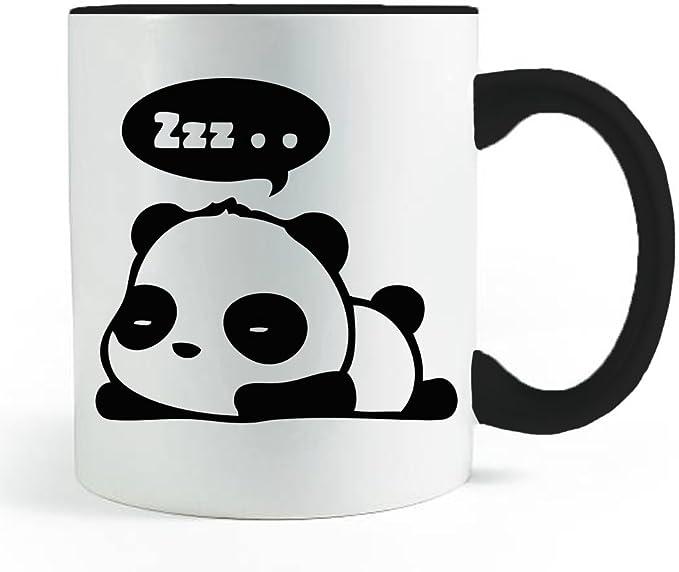 Funny Animal Asian Bear Unicorn Coffee Mug Christmas Birthday Gifts InterestPrint Cute Ninja Panda Morphing Mug Heat Sensitive Color Changing Coffee Mug Cup