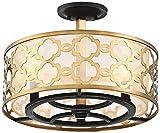 Possini Euro Lata 15 3/4'' Wide Antique Brass Ceiling Light