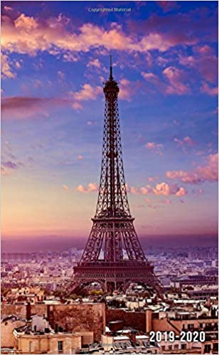 2019-2020: Two-Year Eiffel Tower Monthly Pocket Planner with ...