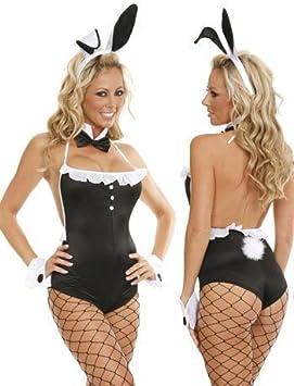 Fancy Me Mujer 5 Piezas Playboy Conejita Sexy Disfraz: Amazon.es ...