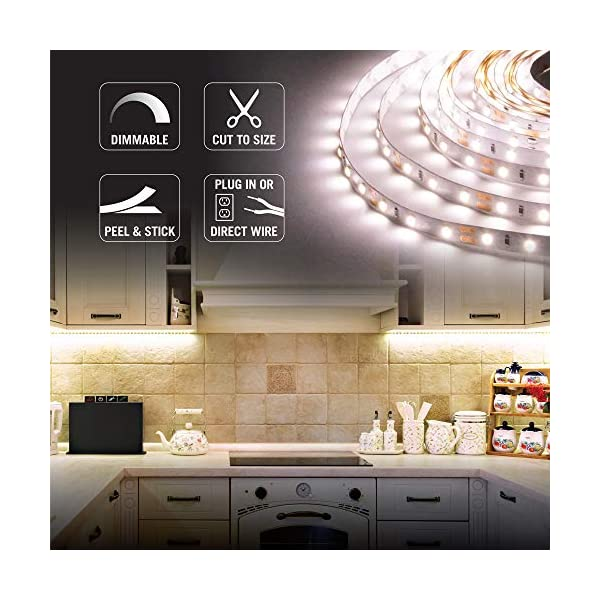 Armacost Lighting 421502 LED Tape Light Kit, 16 ft, 3000K (AC Dimmable) 3