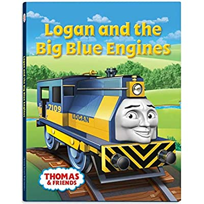 Logan Big Blue Engine Hardcover Book - Thomas Wooden Railway Train Tank Engine: Toys & Games