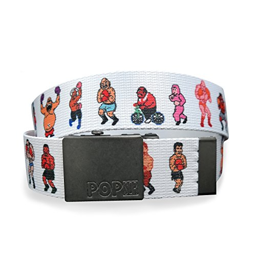 Pop Sqr 80s and 90s Era Nintendo Game Character Adjustable Belt: Mike Tyson's Punch Out, M/L
