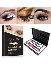 Magnetische Wimpern,3D Magnet Künstliche Wimpern Set,Kein KlebstoffWiederverwendbare Falsche Magnetic Eyelashes