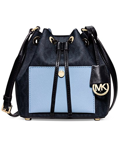 Michael Kors light blue purse | MICHAEL Michael Kors Greenwich Small Bucket Bag  Baltic Blue/Light Sky
