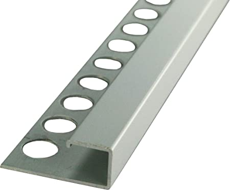 Hauteur: 12,5mm PR/ÉMIUM profil/é pour carrelage /équerre aluminium naturel mat/ériau de 1 mm 50 M/ÉTRE rail de 250cm