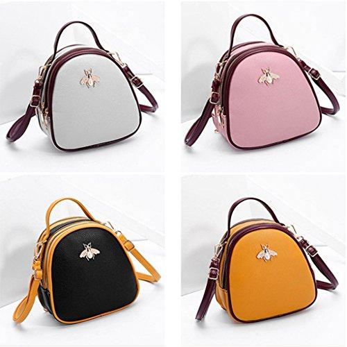 moda estate casual tracolla borsa a GRIGIO Colore Borsa tracolla femminile a ROSA M a moda tracolla casual Taglia 4tBw8qxPzq