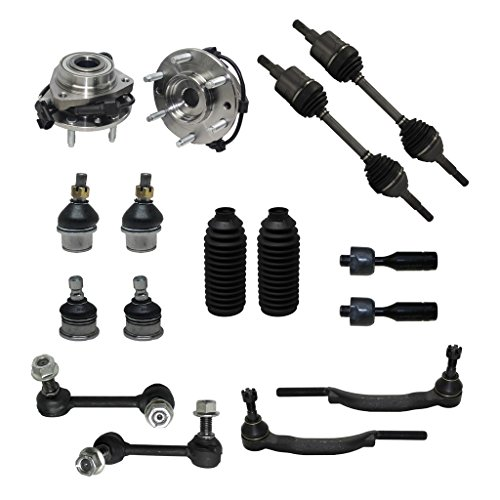 Detroit Axle - 16mm Tie Rod Ends Only Check Before YOU Order Complete 16pc Front Suspension Kit…