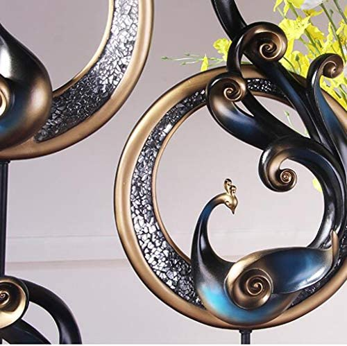 GJF Europ/äische weiche Dekorationen Phoenix muss Schmuck Luxus Aufkleber Glas Home Art Veranda TV Schrank Handwerk t/öten Farbe : Blau