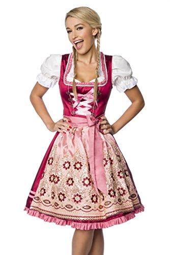 Heels-Perfect - Zuecos de Algodón para mujer rosa y rojo