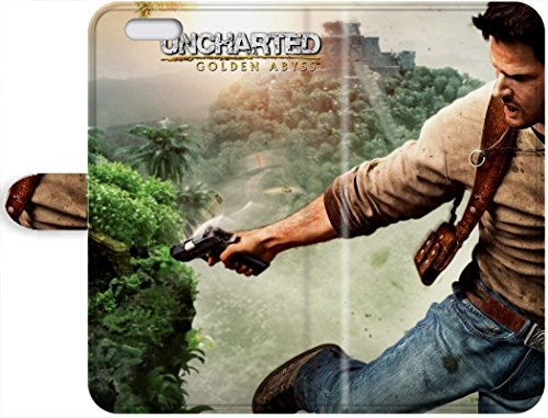 Premium Protective Leather Case With Awesome Look - Uncharted Golden Abyss Nathan Drake iPhone 7