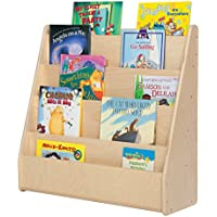 Sprogs SPG-355F Single-Sided Wooden Book Display , 29 Height, 10 1/2 Wide, 30 Length, Natural