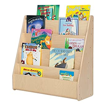 """Sprogs SPG-355F Single-Sided Wooden Book Display , 29"""" Height, 10"""