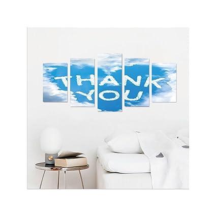Amazon.com: Liguo88 Custom canvas Sky and Clouds Decor Collection ...