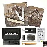 Rough Rider Scrimshaw White Bone Folding Pocket Knife Design Tools Kit Set + Free eBook By SURVIVAL STEEL